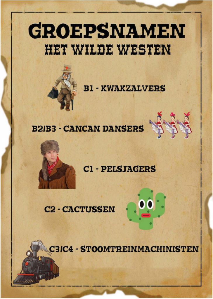 Groepsnamen-hetwildewesten